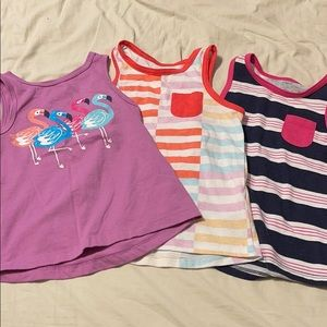 3 Piece Bundle- Cat & Jack Tank Tops- sz 3t